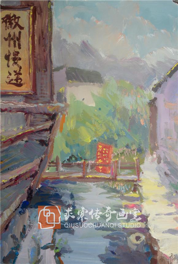 10.2安徽写生色彩风景